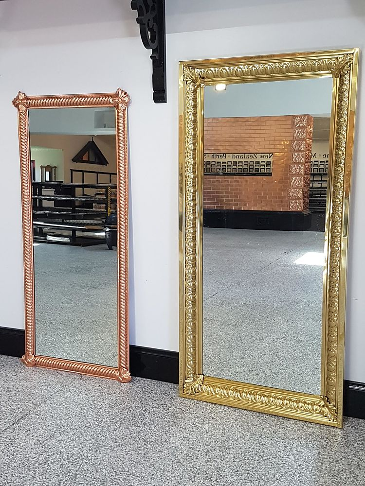 Custom Brass and Copper Mirrors