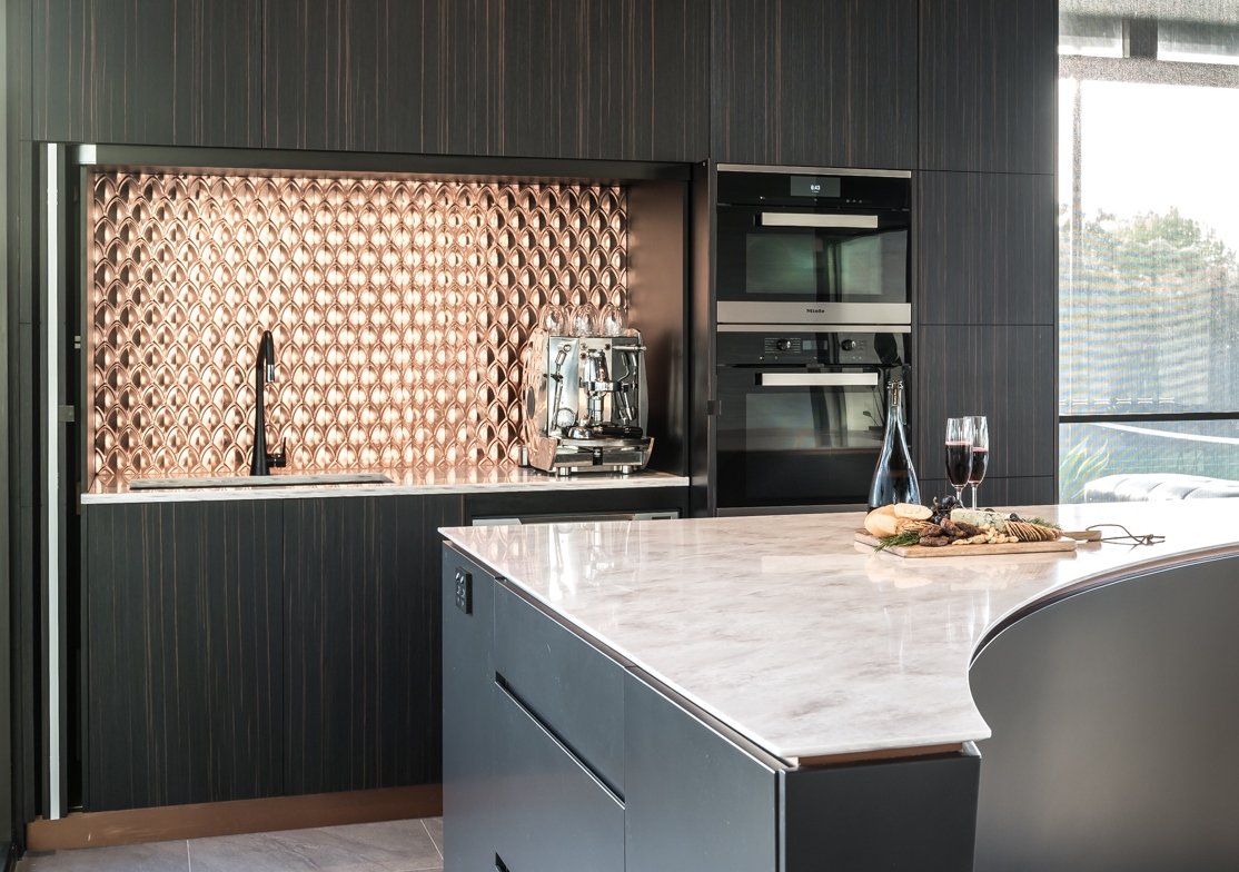 Copper Fishscale Design Splash Back