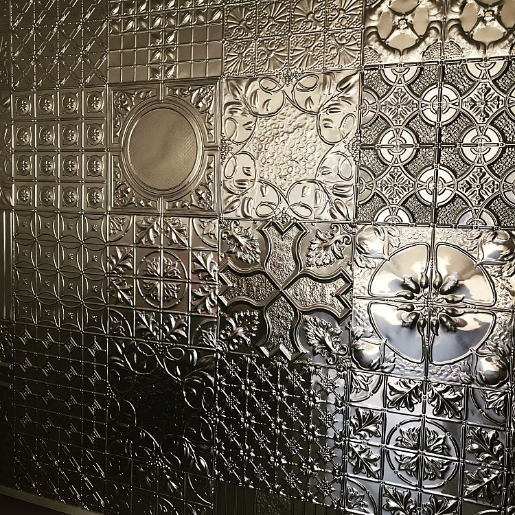 Pressed Metal Patchwork Wall